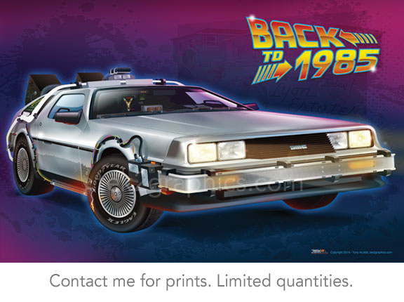 delorean time machine back to the future 1988